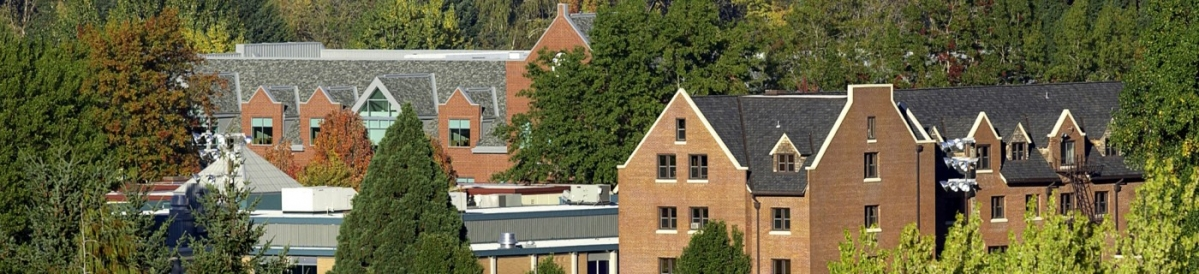 View of the tops of several building on the WOU campus